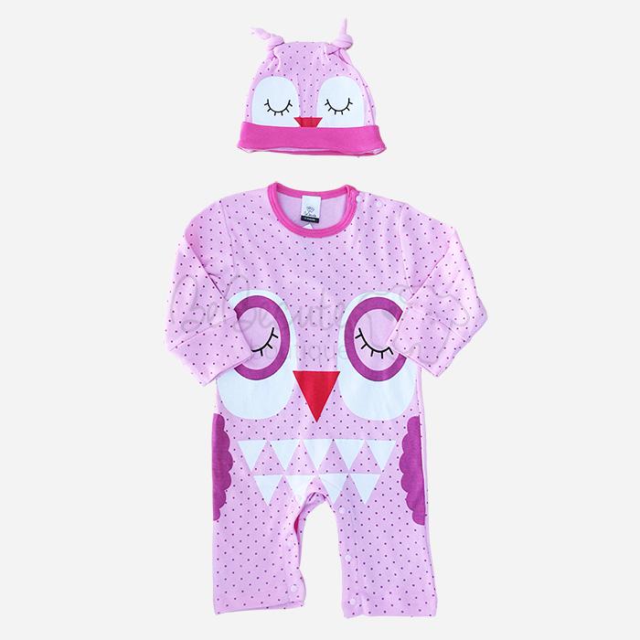 bebecute jumpsuit set owl 9688004