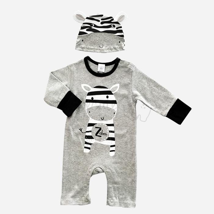 bebecute jumpsuit set zebra 9688010