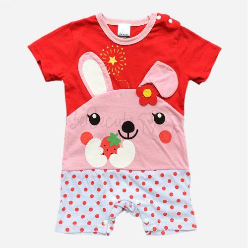 bebecute rompers rabbit red 9666009