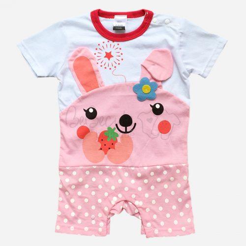 bebecute rompers rabbit pink 9666009