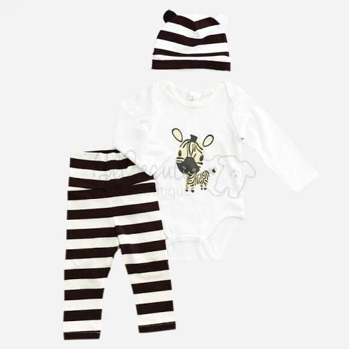 bebecute jumpsuit set zebra 9688007